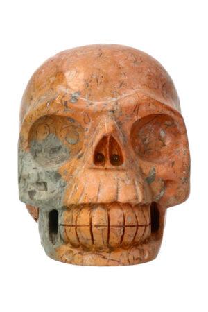 Picasso Jaspis realistische kristallen schedel 10.7 cm 877 gram