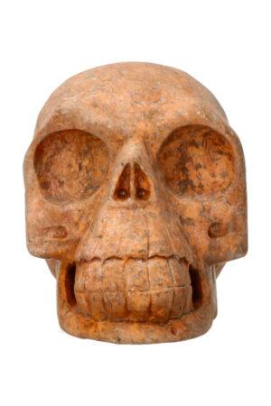 Picasso Jaspis realistische kristallen schedel 10.8 cm 847 gram