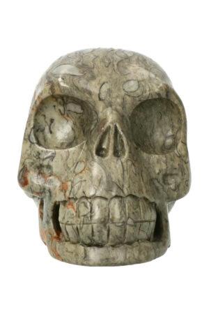 Picasso Jaspis realistische kristallen schedel 10.5 cm 754 gram