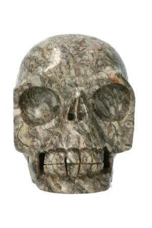Picasso Jaspis realistische kristallen schedel 10.8 cm 896 gram