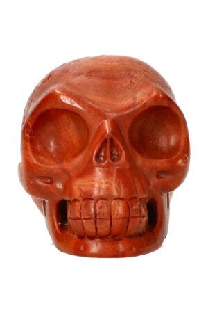 Rode Jaspis kristallen schedel 10.2 cm 697 gram