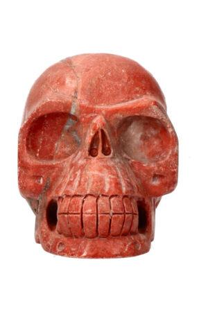 Rode Jaspis kristallen schedel 11.3 cm 967 gram