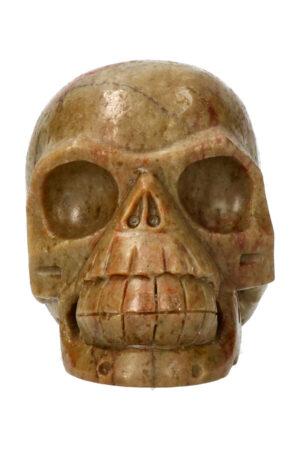 Serpentijn kristallen schedel 11.4 cm 858 gram
