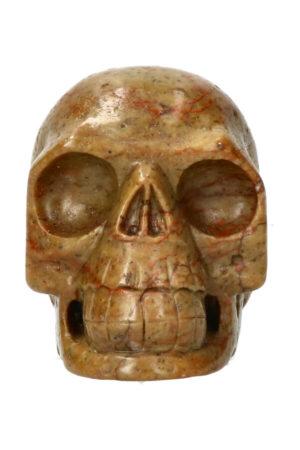 Serpentijn kristallen schedel 11 cm 901 gram