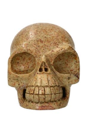 Serpentijn kristallen schedel 14.1 cm 1.5 kg