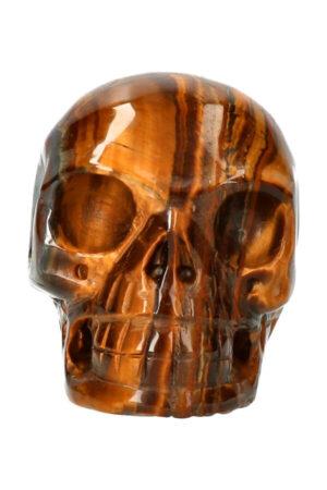 Tijgeroog realistische kristallen schedel 8.4 cm 432 gram