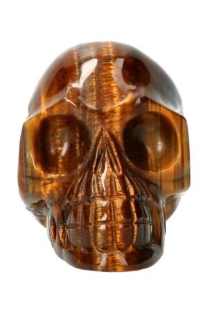 Tijgeroog realistische kristallen schedel 10 cm 388 gram
