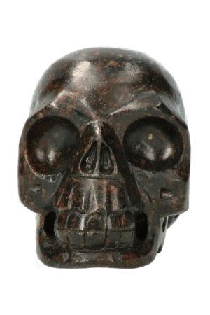Zwarte Toermalijn realistische kristallen schedel 10.6 cm 790 gram